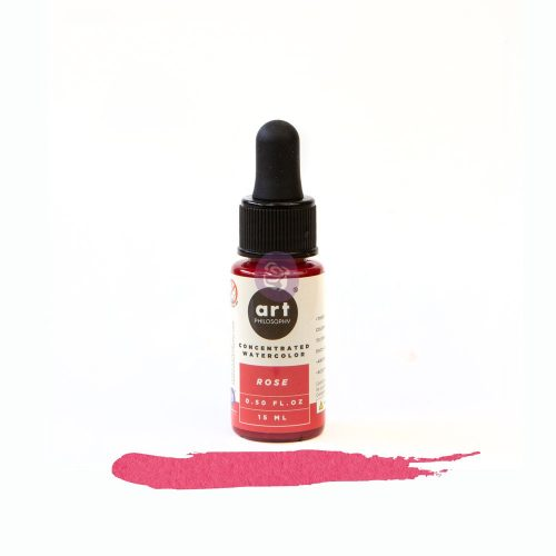 Art Philosophy Concentrated Watercolor 0.5 fl.oz - Rose